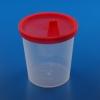 Urinbecher TYP I, 125 ml mit Schnappdeckel und Teststreifentülle