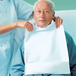 Valafit Schutzlätzchen Tissue mit Auffangtasche (100 Stück)