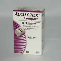 Blutzuckerteststreifen Accu-Chek Compact (51 Stück)