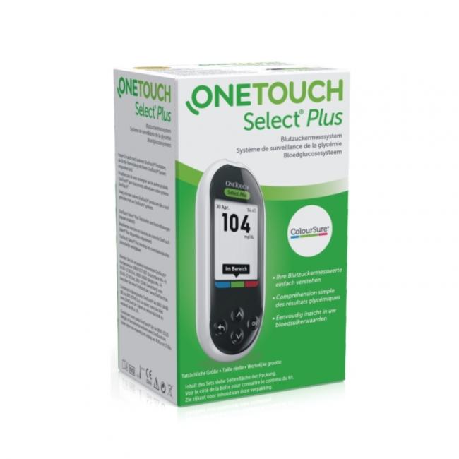 Blutzuckermessgerät One Touch Select Plus, mg/dl (1 Set)