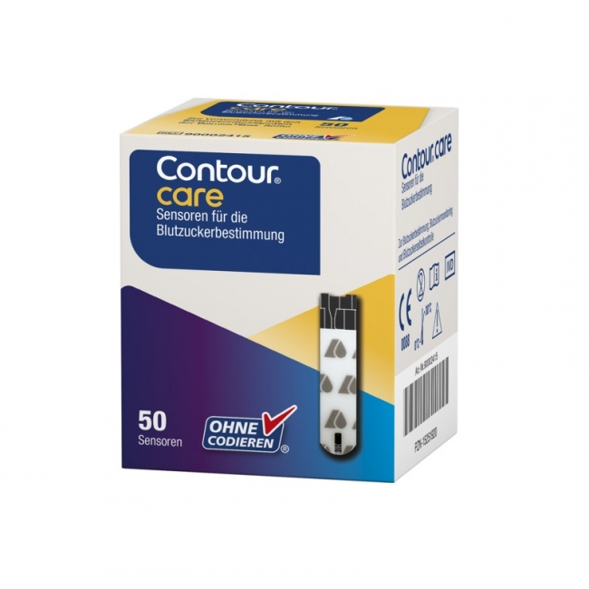 Blutzuckerteststreifen Contour Care Sensoren (50 Stück)